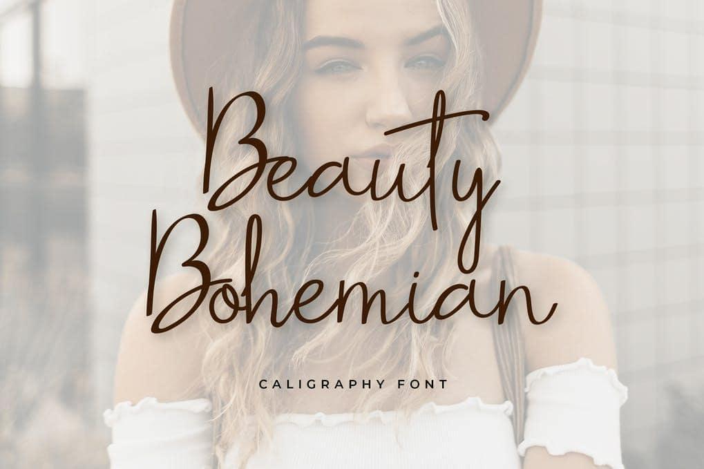 Beauty Bohemian Handwritten Font