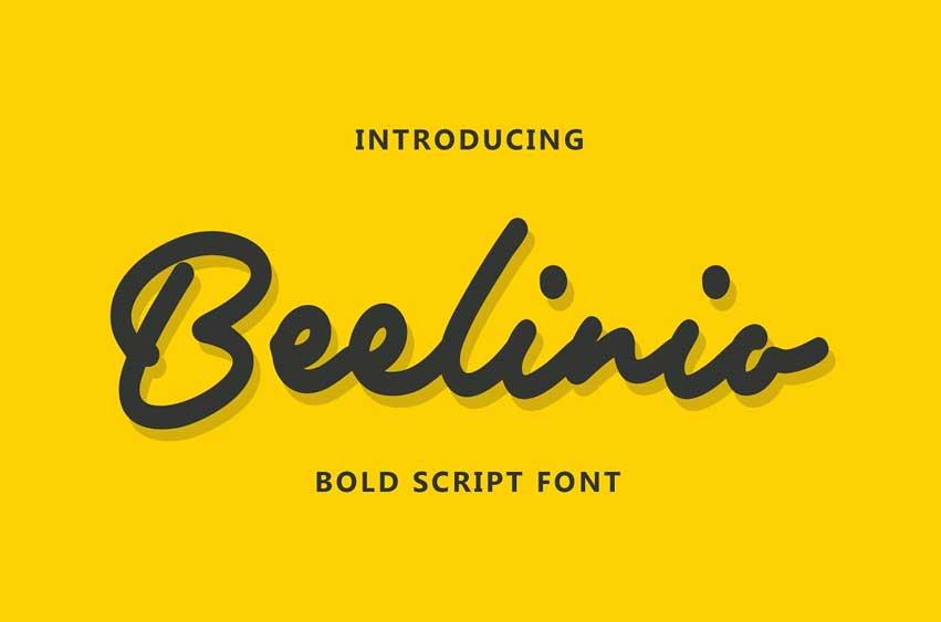 Beelinio - Bold Script