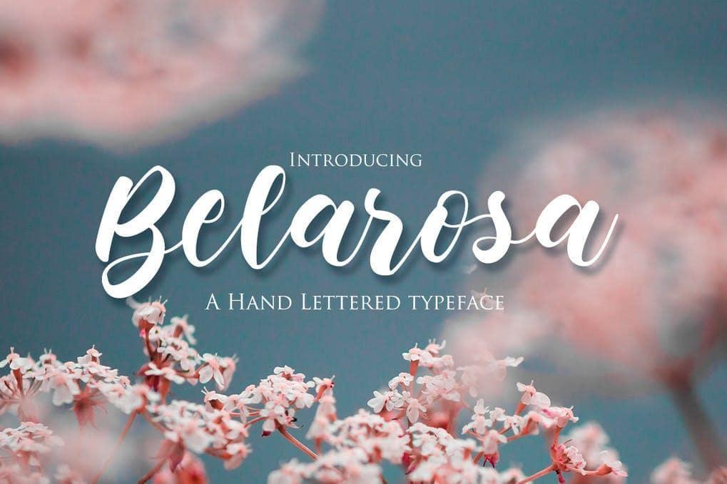Belarosa - Hand Lettered Typeface Font