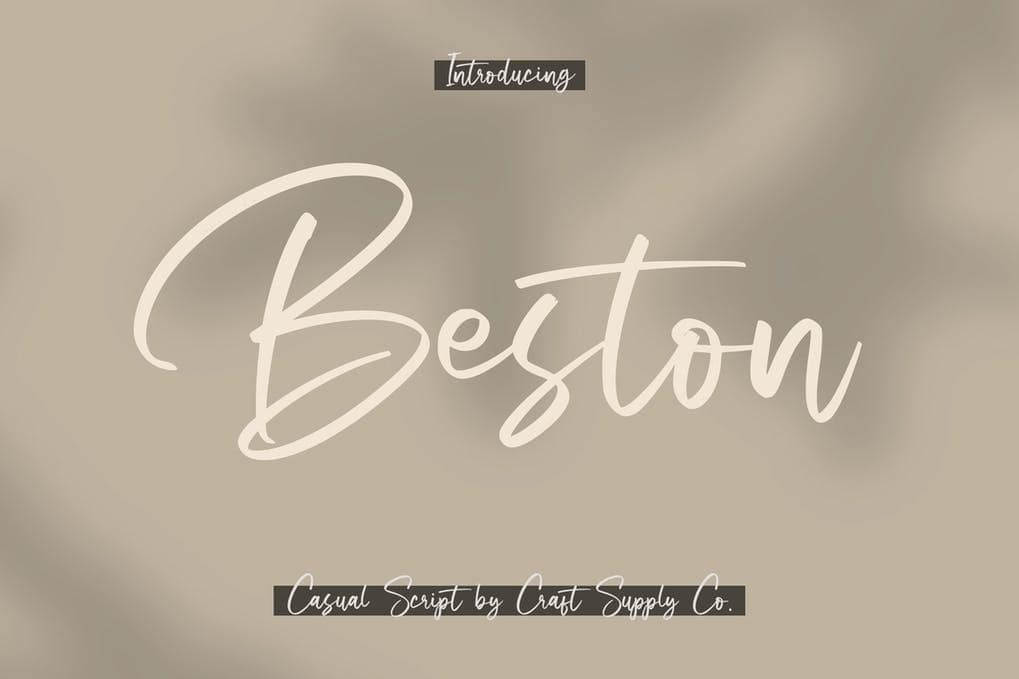 Beston - Casual Script Font
