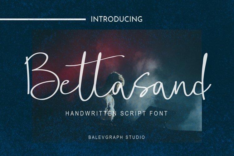 Bettasand Handwritten Script Font