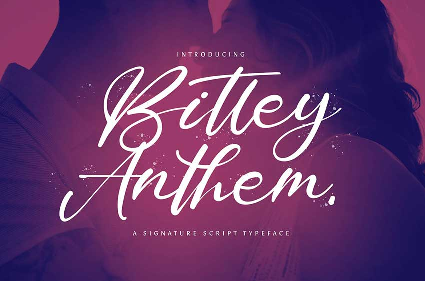 Bitley Anthem - Handwritten Font
