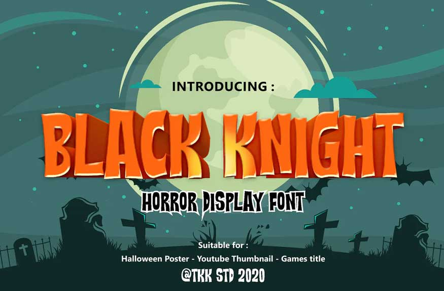 Black Knight - Mystery Gaming and Movie Font