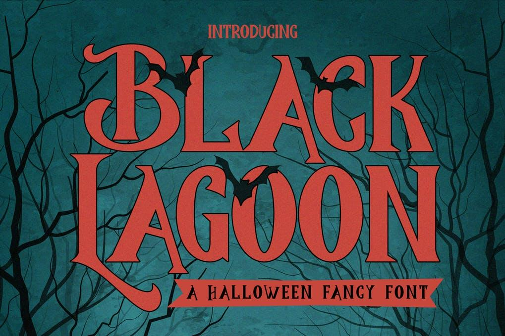 BlackLagoon - Halloween Fancy Font