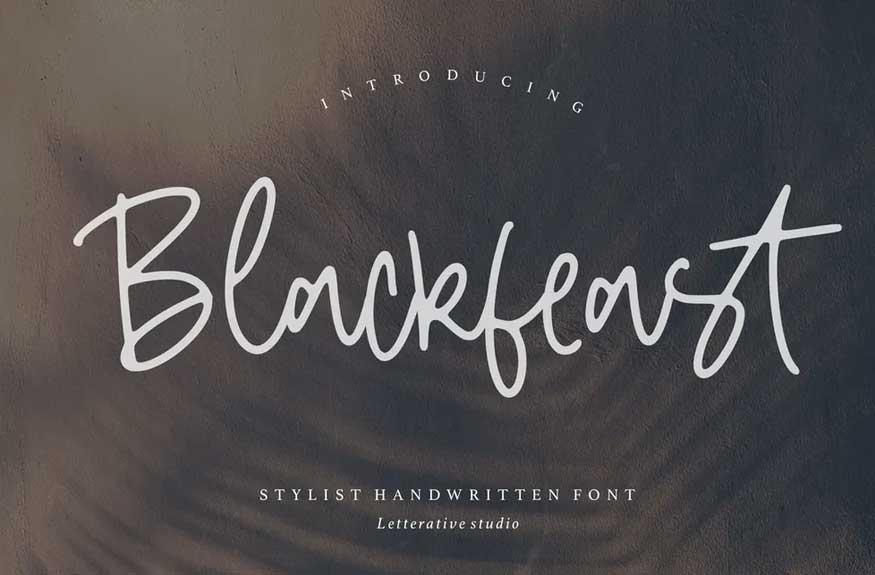 Blackfeast Signature Font