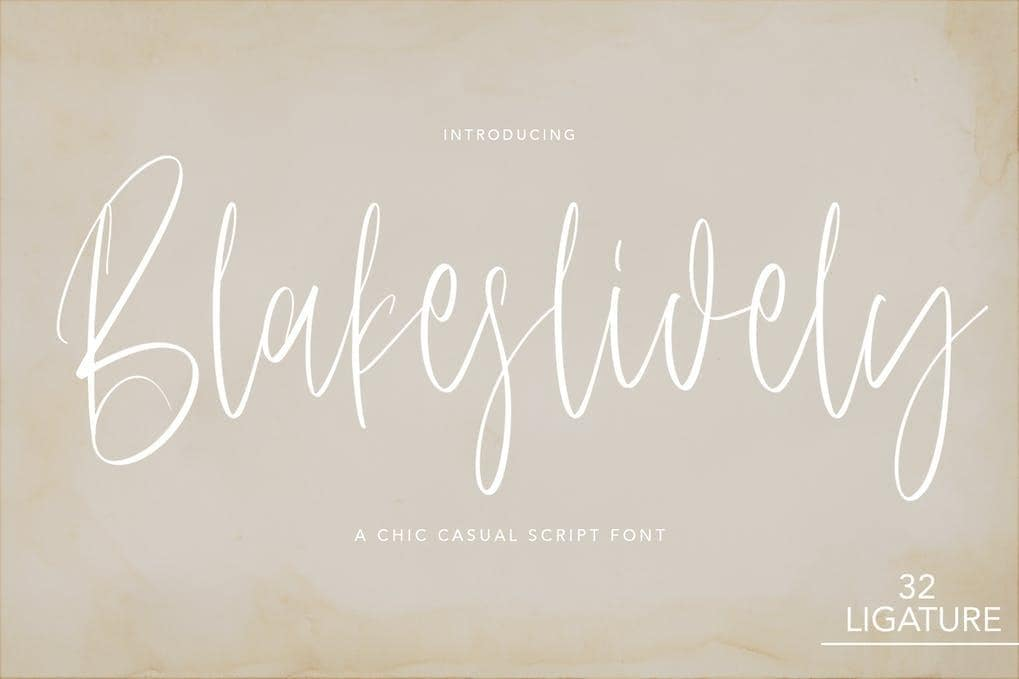 Blakeslidely - Chic Sasual Script Font