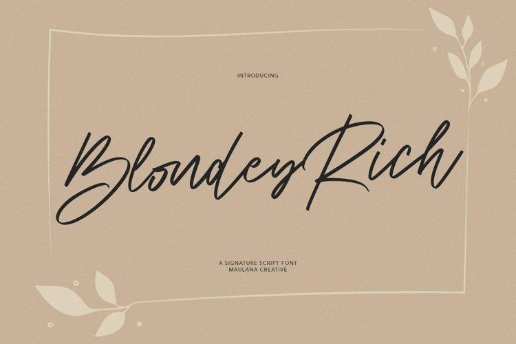 Blondey Rich Font