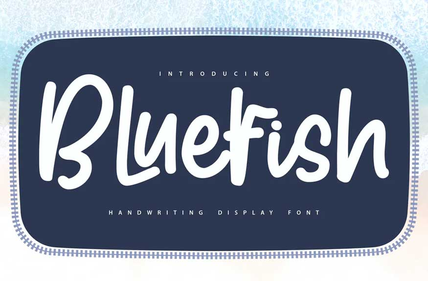 Bluefish | Handwriting Display Font