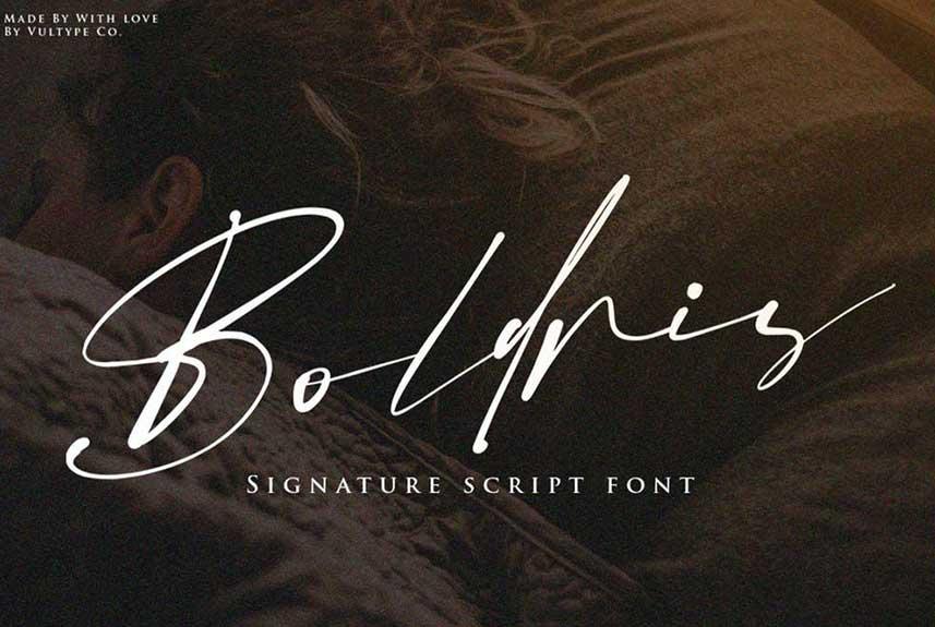 Bolderis Signature Font