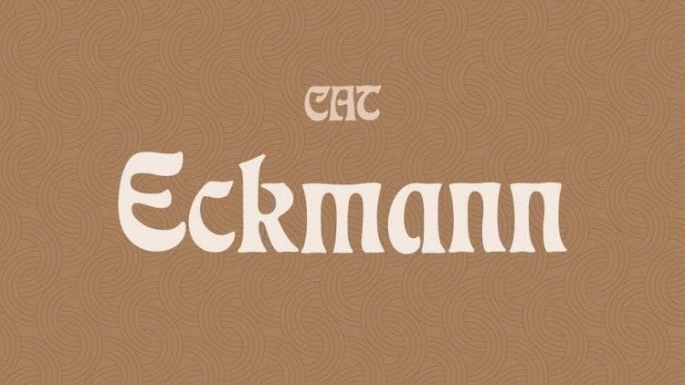 CAT Eckmann Display Font