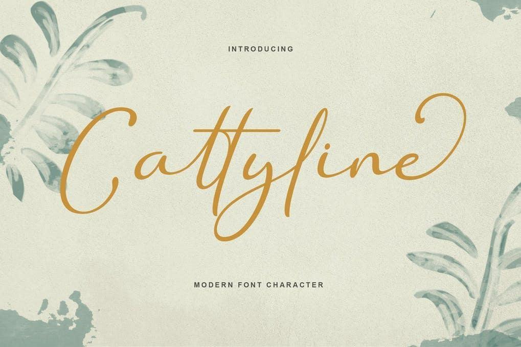 Cattyline Font