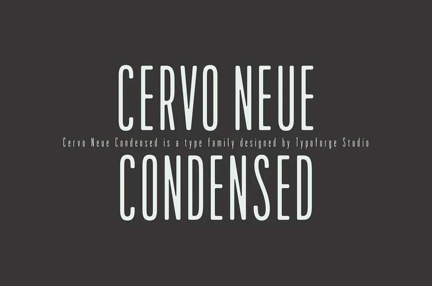 Cervo Neue Condensed Font Family