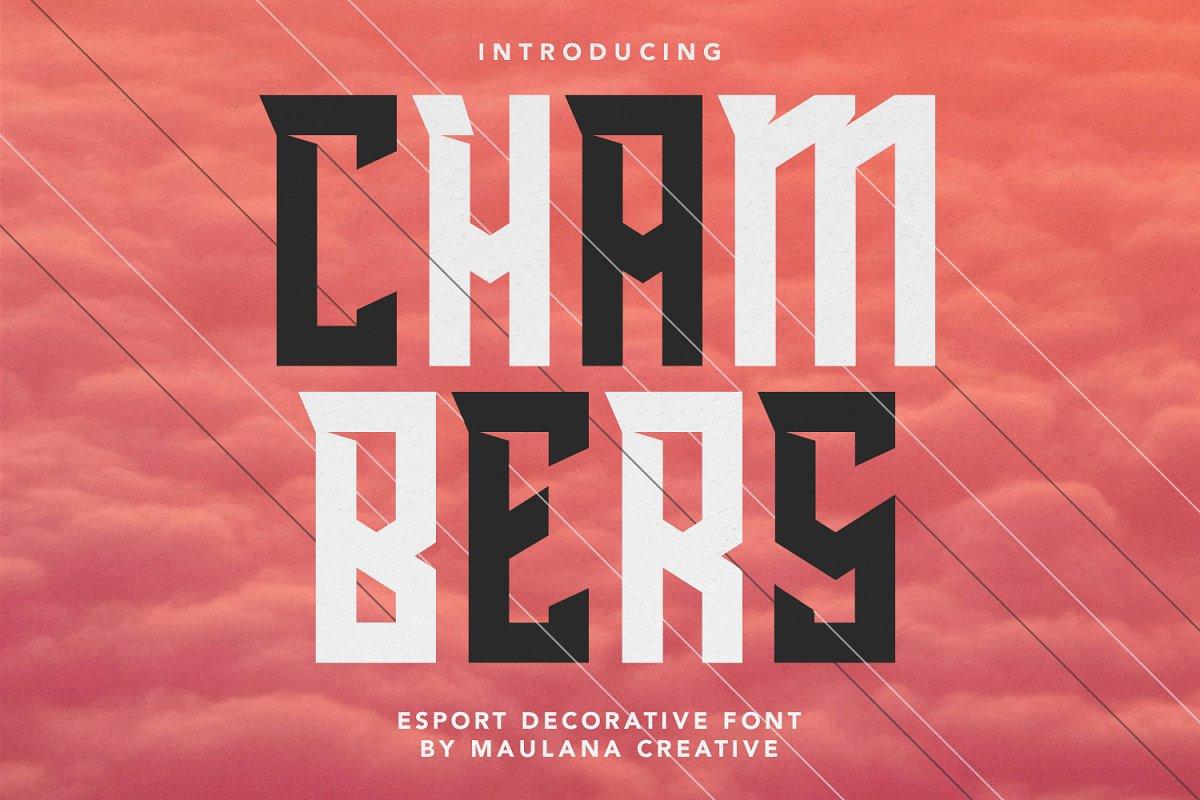 Chambers Esport Decorative Font