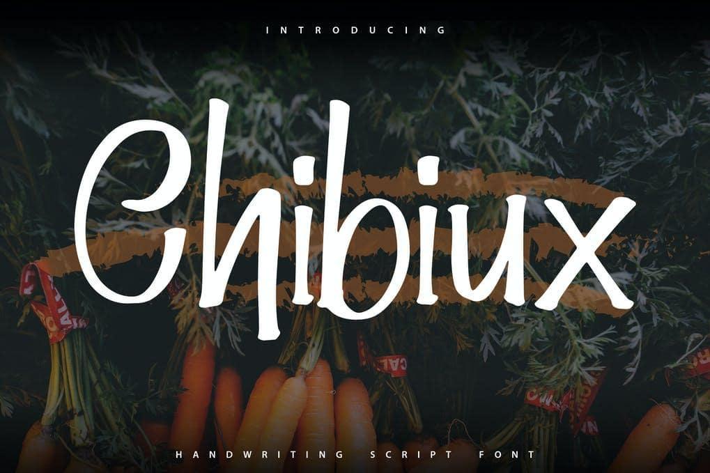 Chibiux | Handwriting Script Font