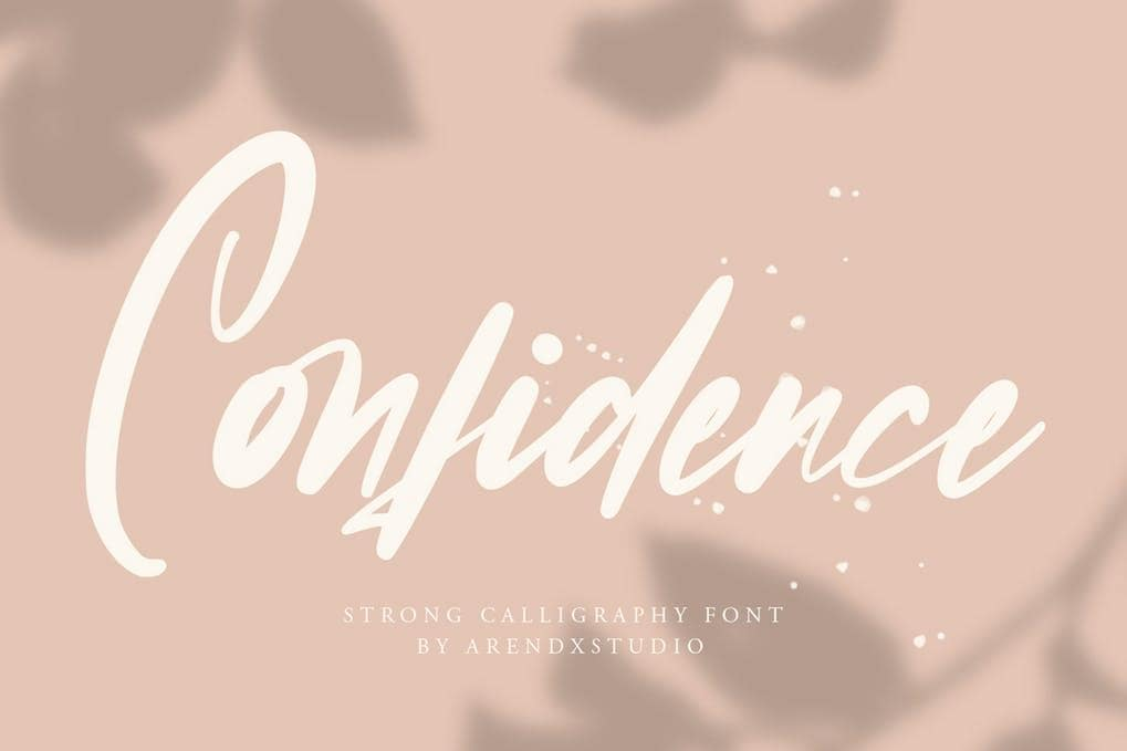 Confidence - Calligraphy Font