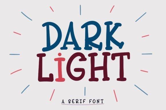 Dark Light Font