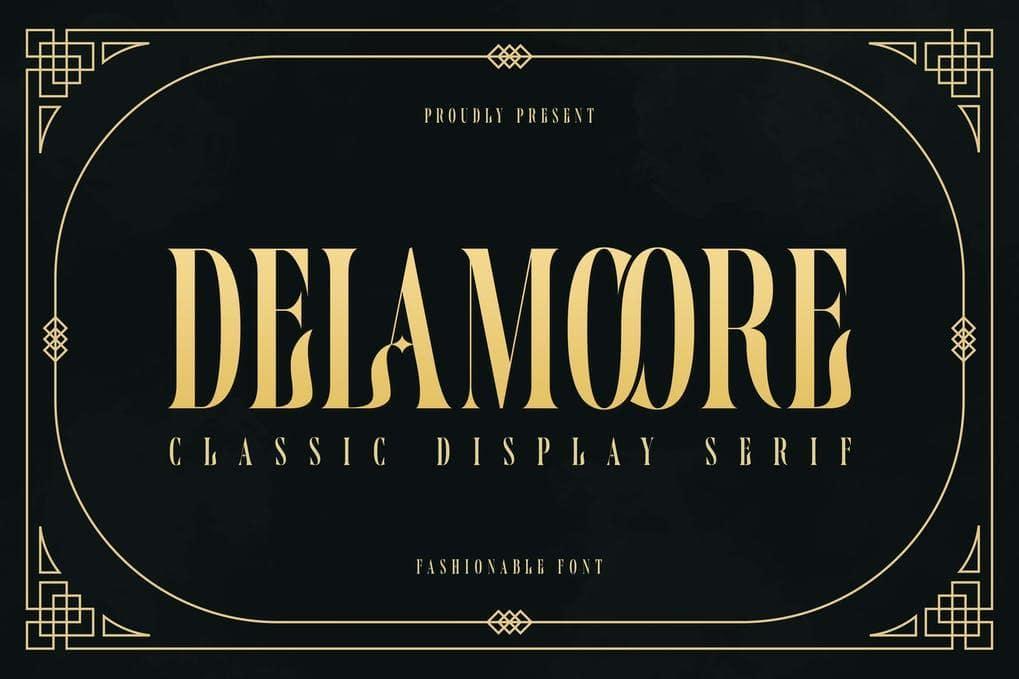 Delamoore - Classic Display Serif