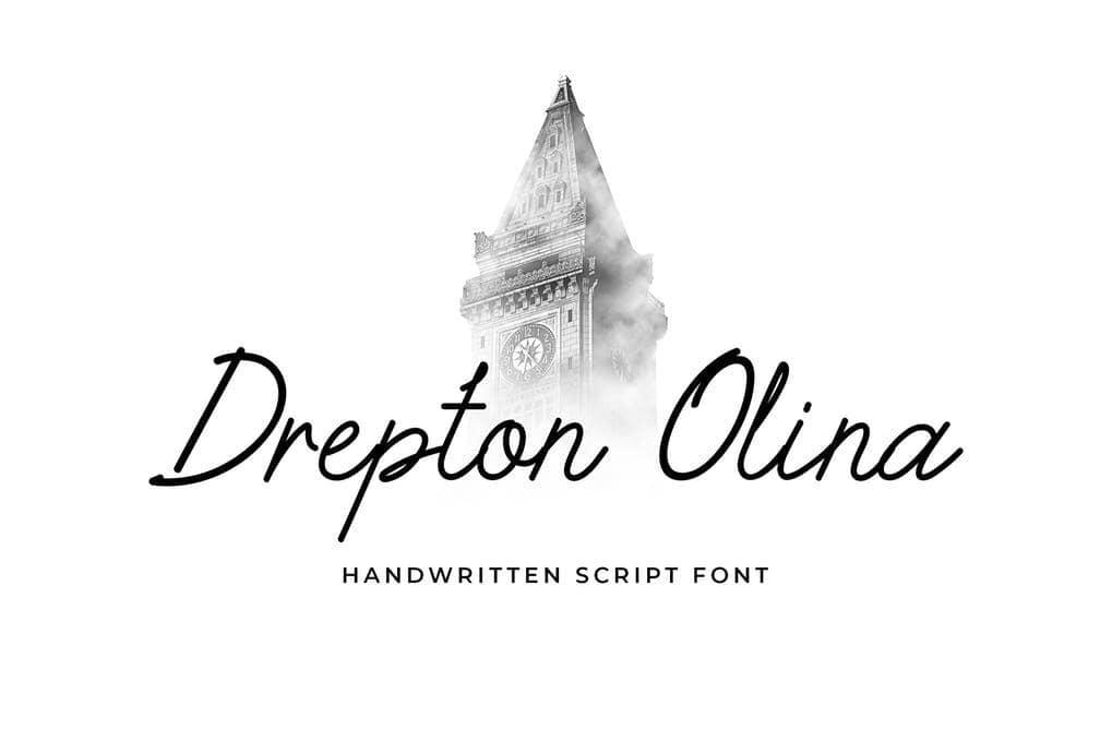 Drepton Olina Handwritten Font