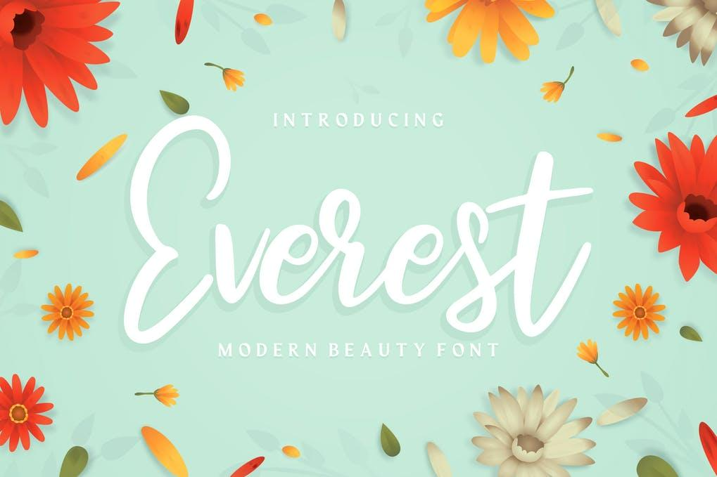 Everest Modern Beauty Font