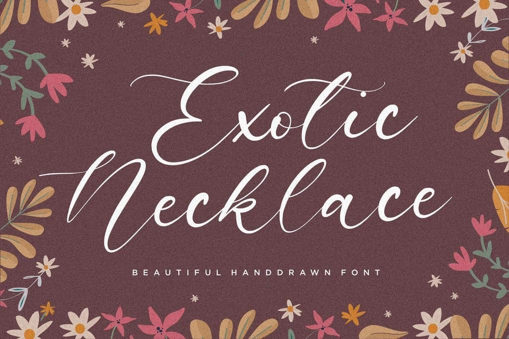 Exotic Necklace Font