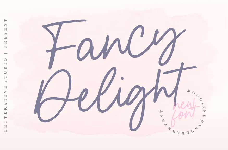 Fancy Delight Signature Font