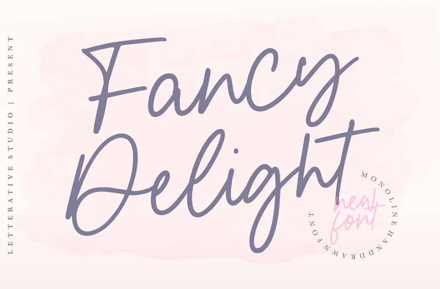Fancy Delight Signature Font