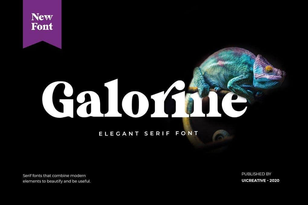 Galorine Serif Font