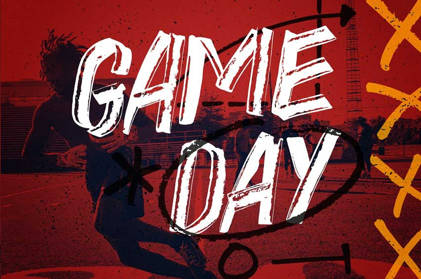 Game Day - Hand Drawn Font