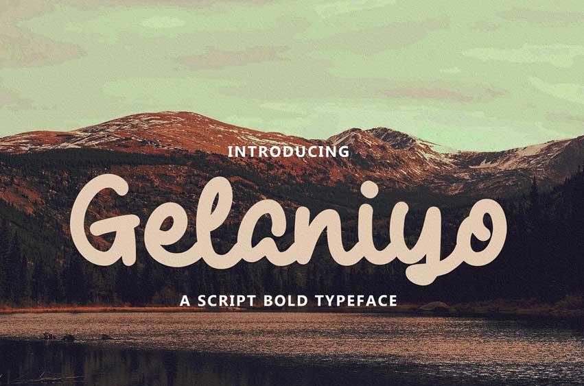 Gelaniyo - a Script Bold Typeface