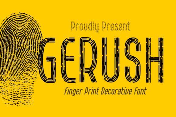 Gerush Font