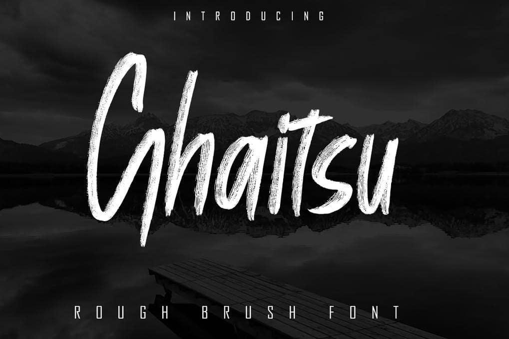 Ghaitsu - Rough Brush Font