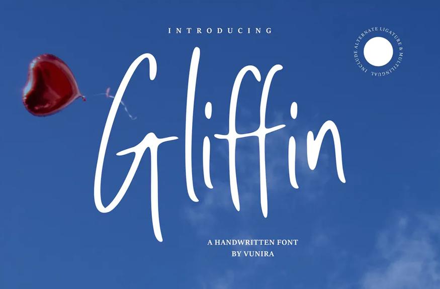 Gliffin | A Handwritten Font