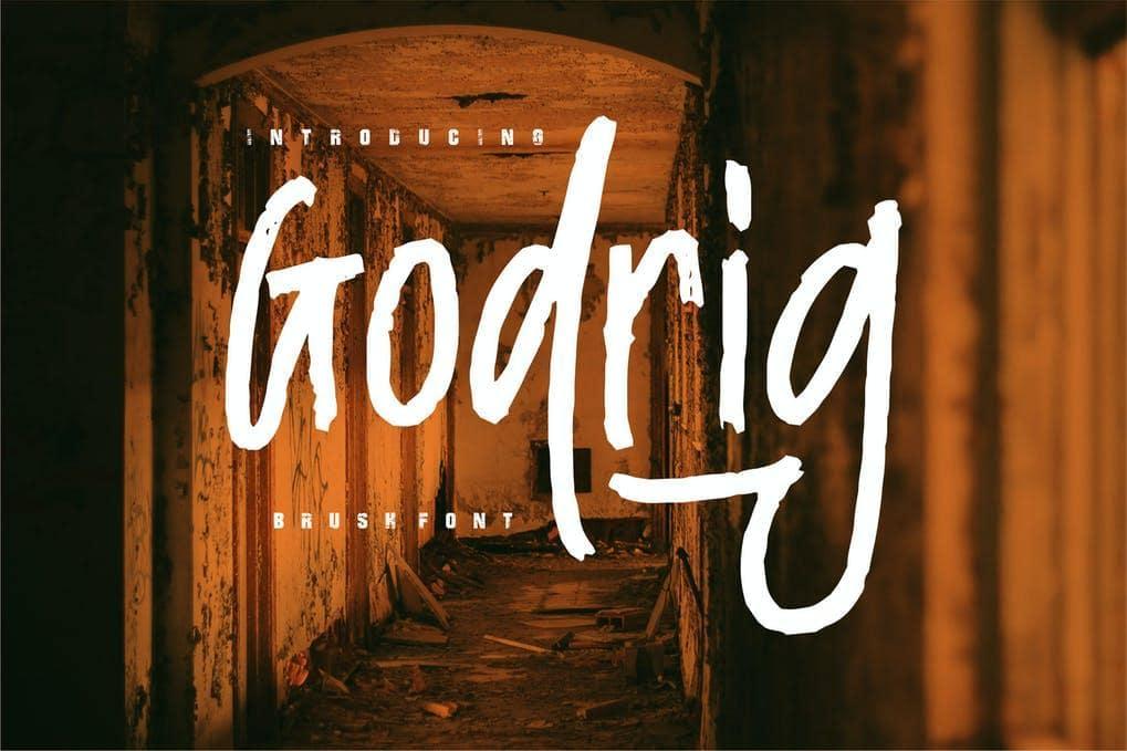 Godrig | Brush Font