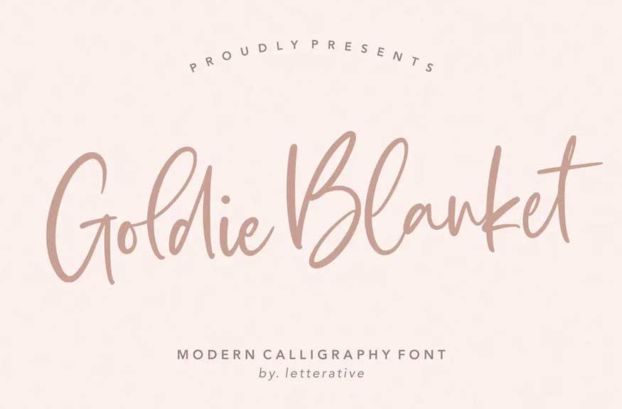 Goldie Blanket Script Font