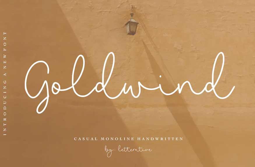Goldwind Script Font
