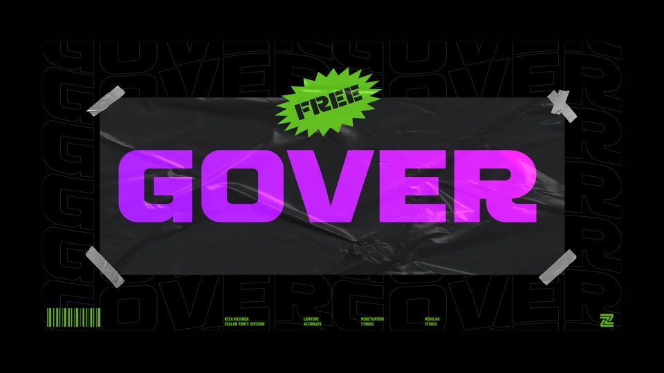 Gover - Sans Serif Display Font
