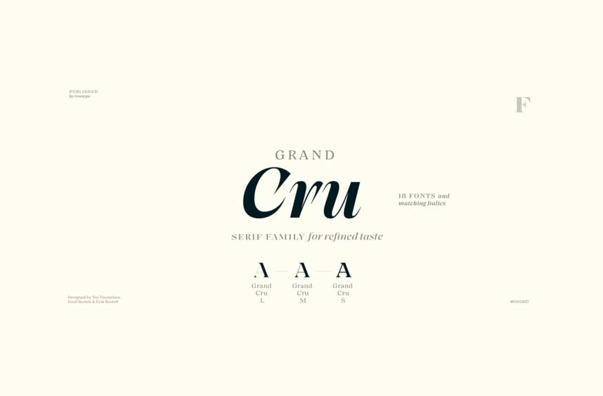 Grand Cru Font Family
