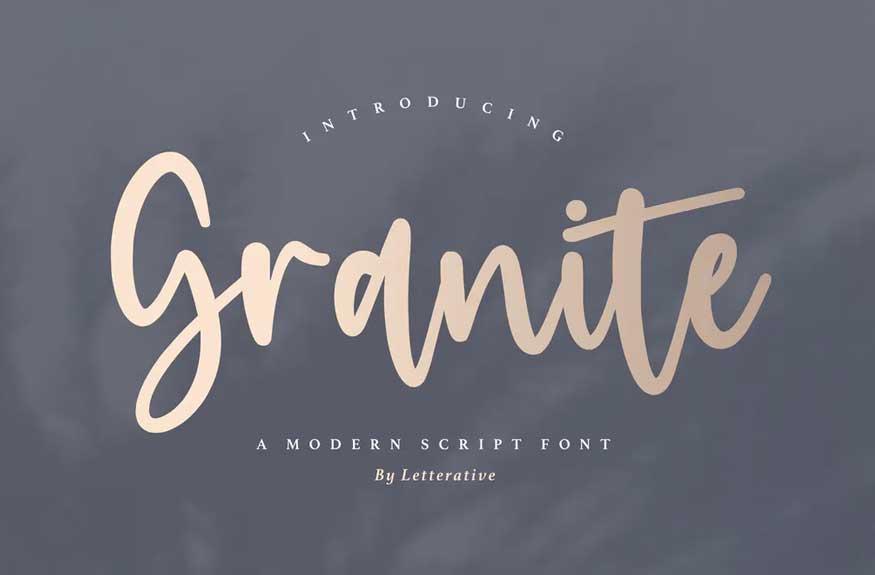Granite Script Font