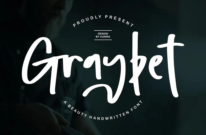 Graybet   A Beauty Handwritten Font