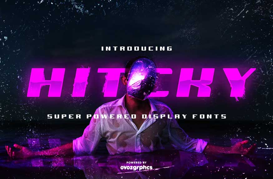 HITCKY SUPER POWERED DISPLAY FONT