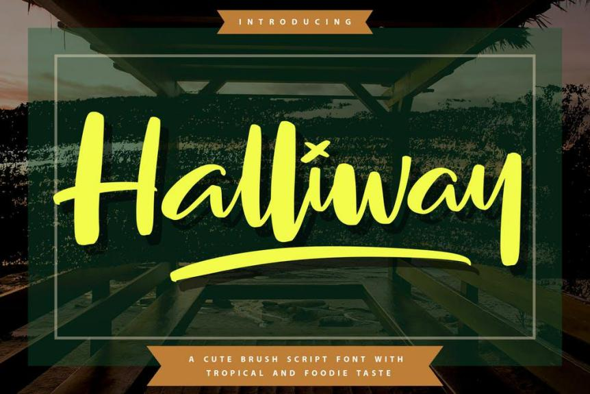 Halliway Brush Script Font