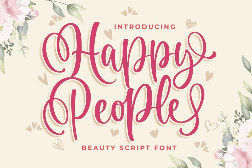Happy People Beauty Script Font