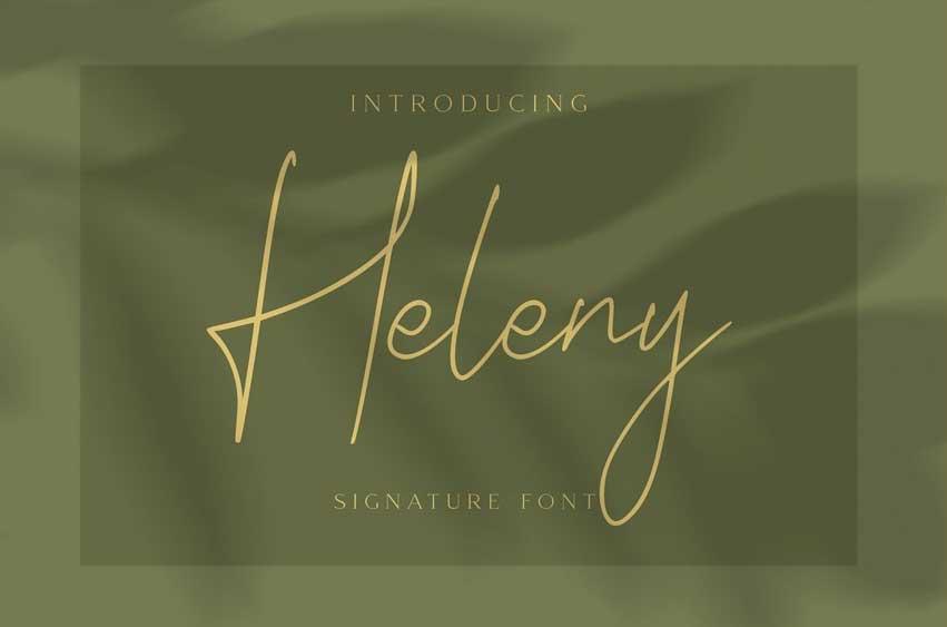 Heleny - Signature Script Font
