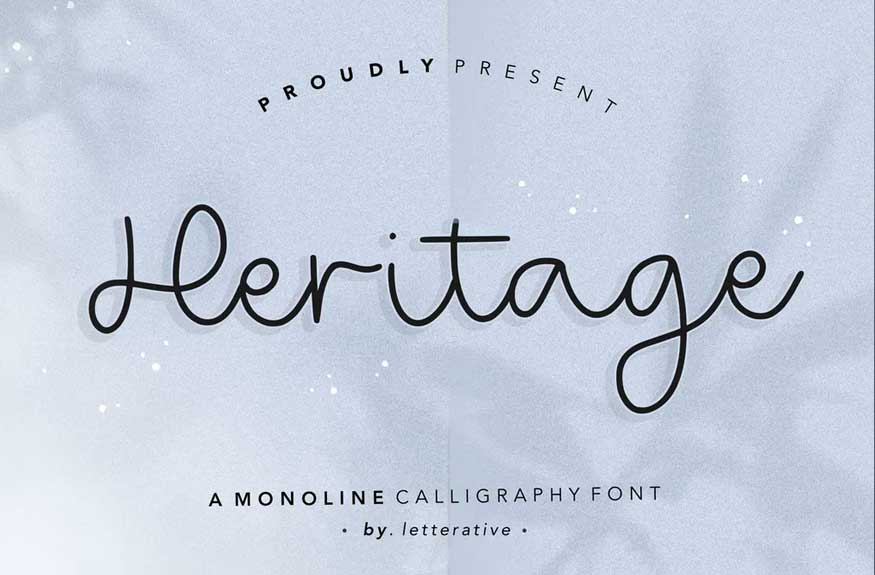 Heritage Script Font