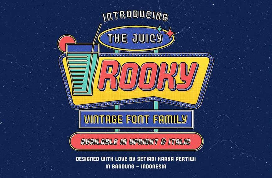 Juicy Rooky Font