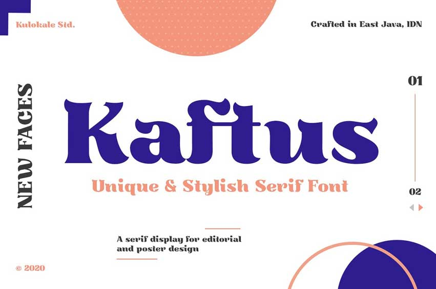 Kaftus Display Serif Font