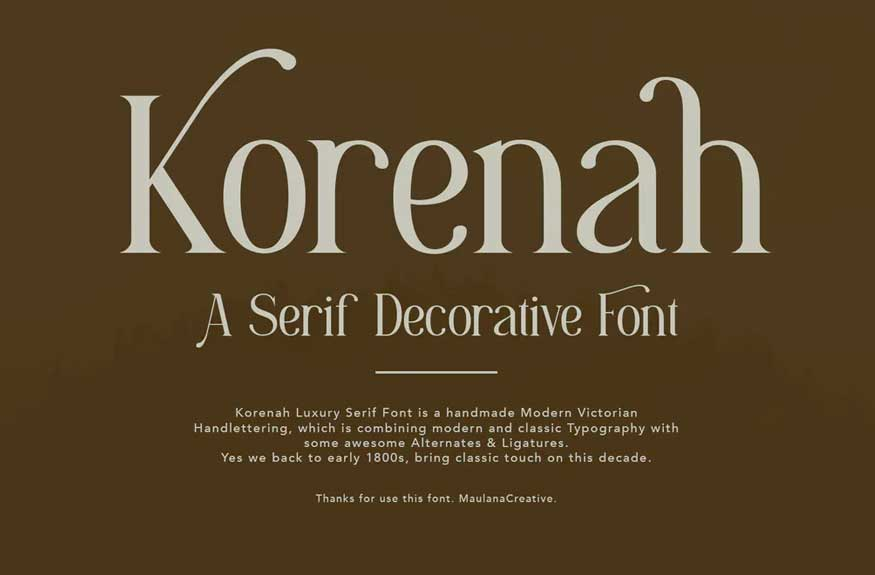 Korenah Serif Decorative Display Font