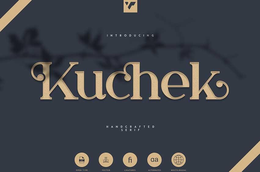 Kuchek - Handcrafted Serif Font
