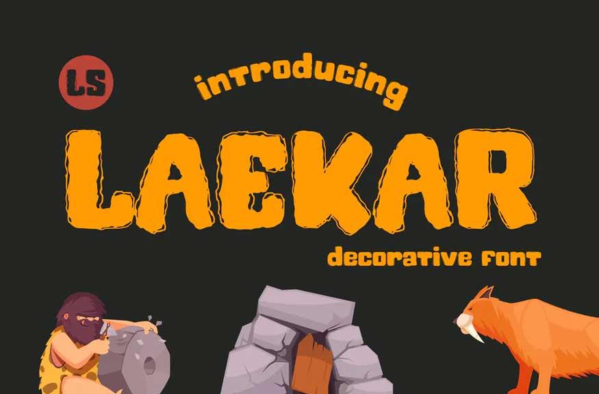 Laekar | Playful Font
