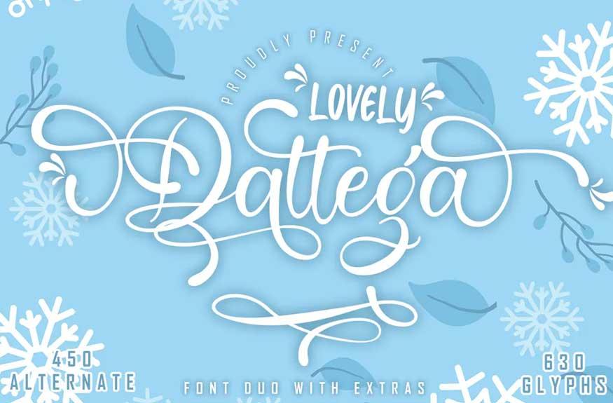 Lovely Dattega - Font duo